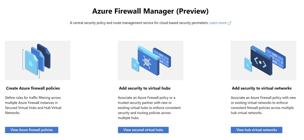 Azure Firewall Manager now supports virtual networks