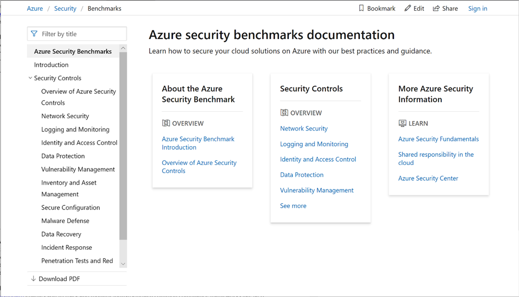 Monitor your Azure workload compliance with Azure Security Benchmark