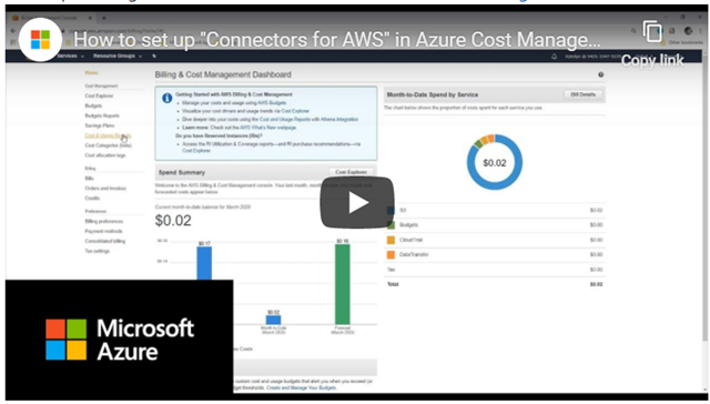 Connector for AWS in Azure Cost Management + Billing is now generally available