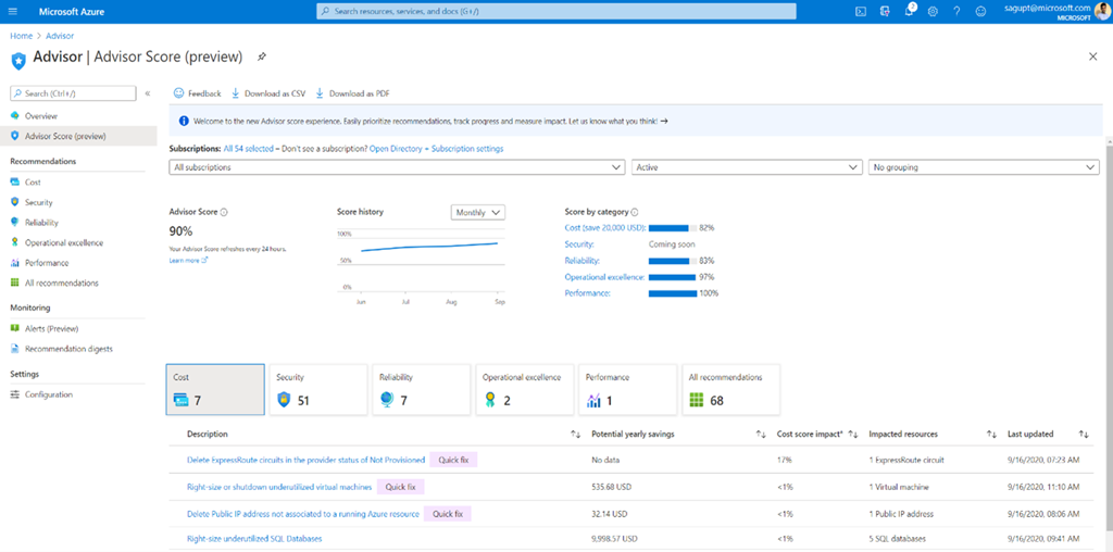 Azure Cost Management and Billing updates – October 2020