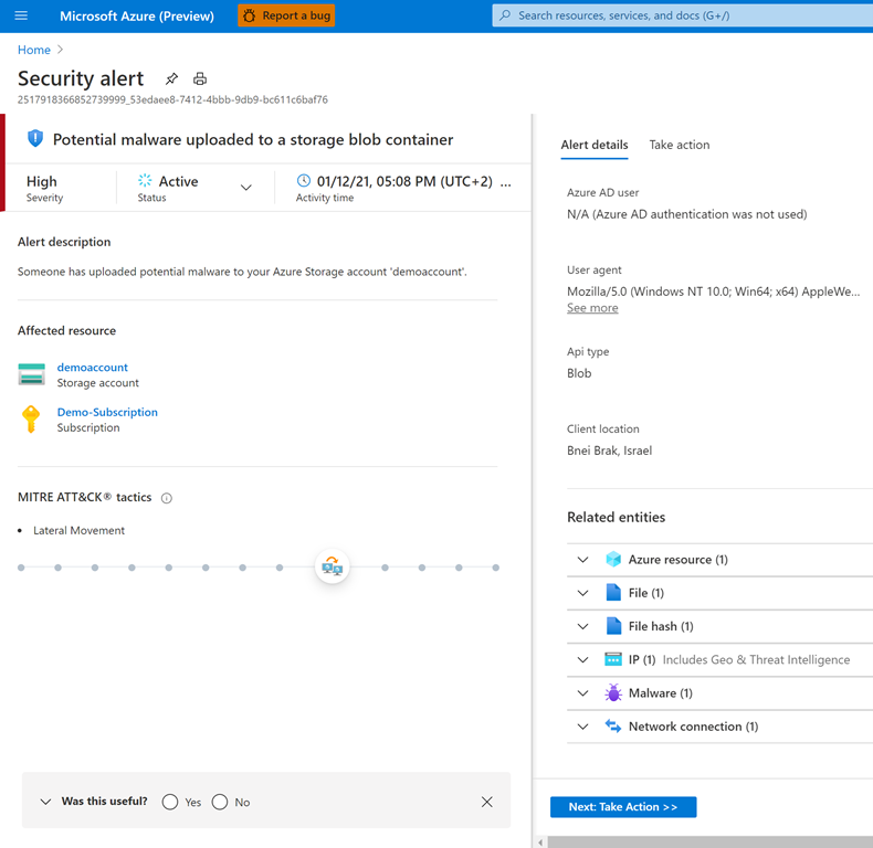 Azure Defender for Storage powered by Microsoft threat intelligence